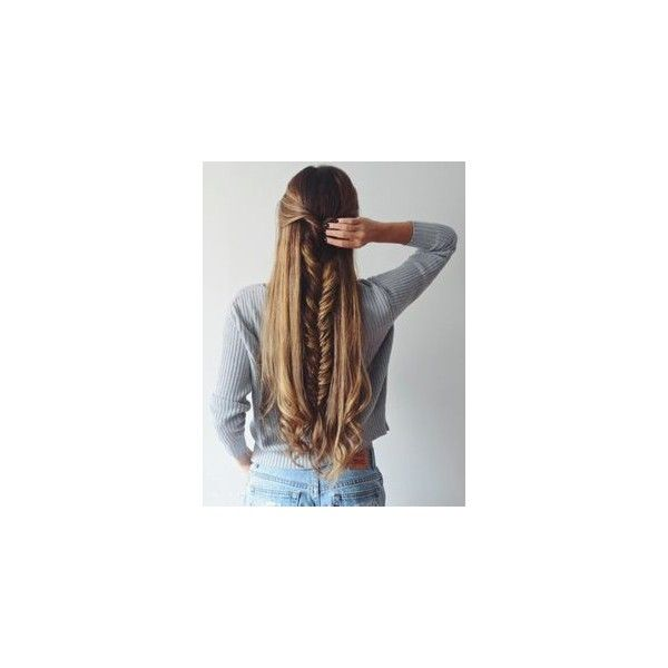 2 BRAIDS, 3 WAYS ❤ liked on Polyvore featuring accessories, hair accessories, hair, braids, blonde hair, brown hair, hairstyles and long hair accessories