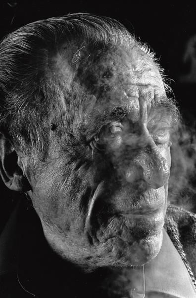 There's a bluebird in my heart that wants to get out but I'm too tough for him, I say, stay in there, I'm not going to let anybody see you.  Charles Bukowski  Photo by Gottfried Helnwein, 1991.
