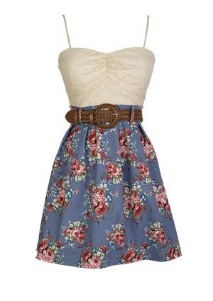 .: Cowgirl Boots, Cowboy Boots, Country Dresses, Floral Twofer, Cute Dresses, Twofer Dresses, Cowboys Boots, Cute Summer Dresses, Floral Dresses