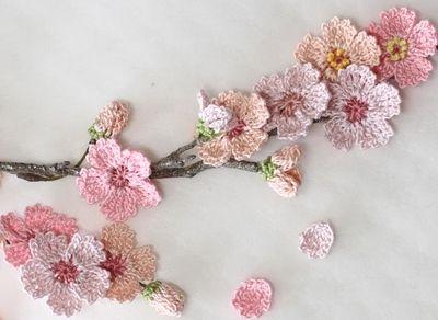 Chrochet Cherry Blossom