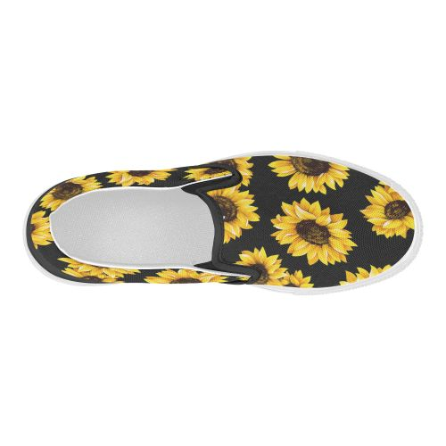 ebc689f75654 US  47.99 InterestPrint Sunflower Casual Slip-on Canvas Women s Fashion  Sneakers Shoes
