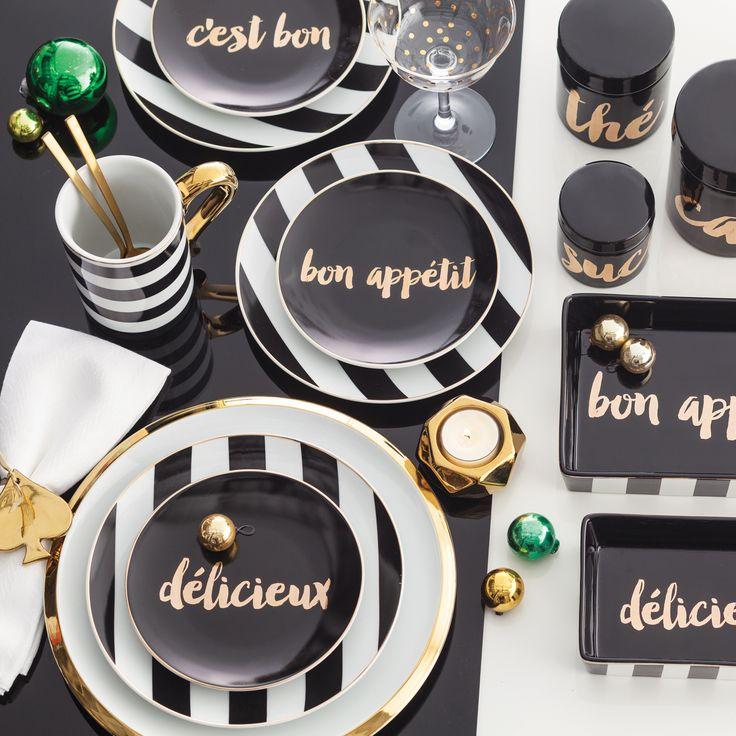 Rosanna Soiree Noire Appitizer Plate Set of 4 #laylagrayce