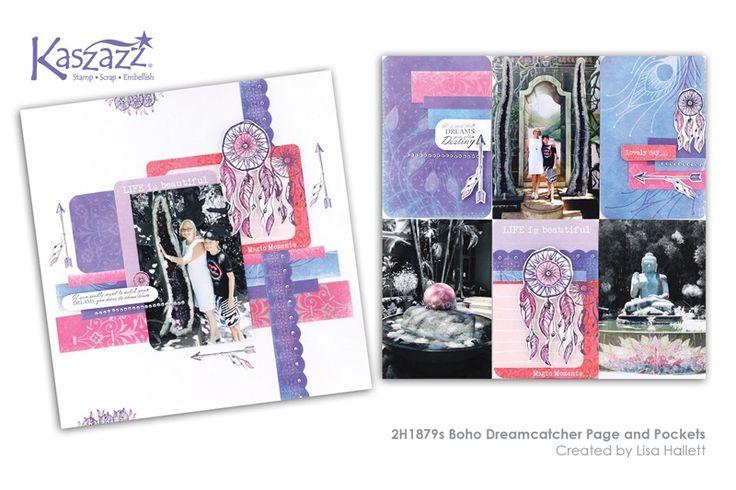 2H1879s Boho Dreamcatcher Page and Pockets