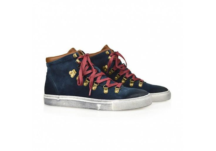 High sneakers blue suede #timberland