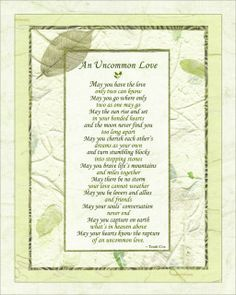 This is one of our most loved poems for #weddings as a reading during the ceremony or a toast at the reception, and a gift for the couple to have in a memory book in remembrance of their wedding day! The larger framed version is beautiful to display with the wedding guest register or at the reception -- and then perfect in the master bedroom after the ceremony.