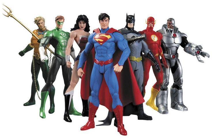 Anime Hình 17 cm Superheroes Batman Green Lantern Flash Superman Wonder Woman PVC Hành Động Figures Đồ Chơi Trẻ Em Búp Bê Mô Hình