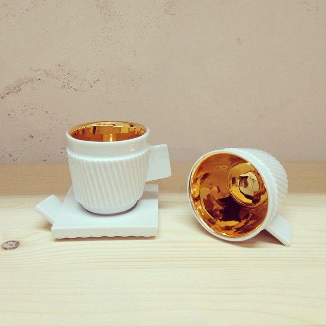 Just espresso and little bit of gold.  by Zuzana Holaňová