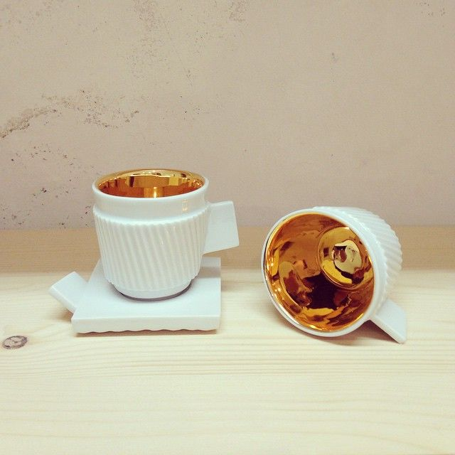 Just espresso and little bit of gold. #espresso #cup #gold #porcelain #coffee