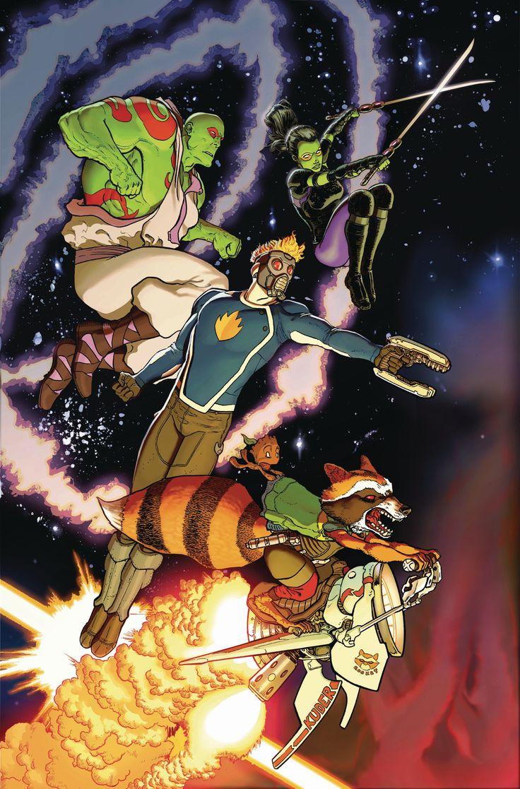 ALL NEW GUARDIANS OF GALAXY #1Primero, despegue con Star-Lord, Gamora, Drax, Rocket Raccoon y Groot mientras se dirigen hacia las estrellas y entran en una nueva serie en curso! Los creadores Gerry Duggan, Aaron Kuder e Ive Svorcina le traen una acción exagerada y una aventura fuera de este mundo mientras se prepara el escenario para los muy esperados Guardianes de la Galaxia # 1 de mayo. Como esta improbable banda de inadaptados vuelve al espacio una vez más, nada lo prepa