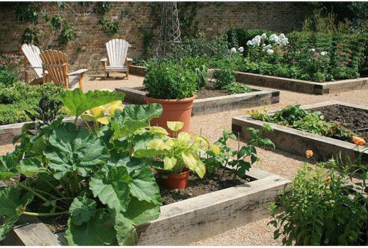 vegetable garden: Gardens Beds, Rai Beds Gardens, Rooftops Gardens, Raised Beds, Kitchens Gardens, Raised Vegetables Gardens, Rai Vegetables Gardens, Pathways Ideas, Vegetable Gardens