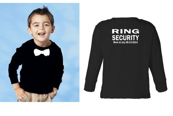 Personalized Ring security shirt Ring Bearer by tinygreenapples