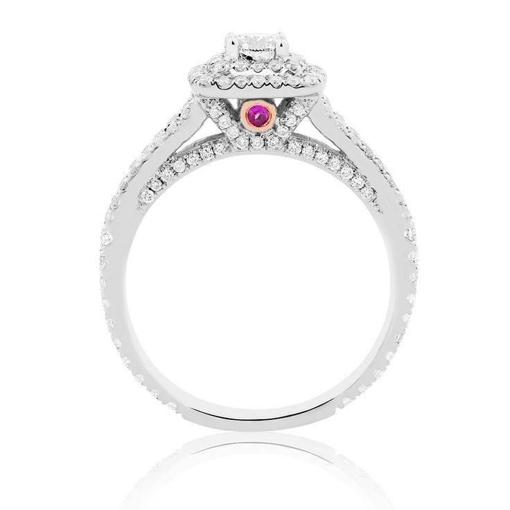 Michael Hill Designer Arpeggio Engagement Ring with 0.95 Carat TW of Diamonds in 14ct White Gold