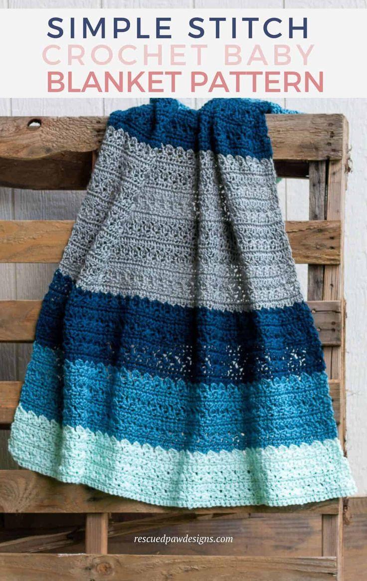 Simple Stitch Crochet Baby Blanket
