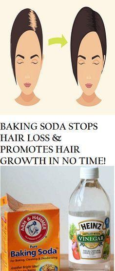 BAKING SODA STOPS HAIR LOSS & PROMOTES HAIR GROWTH IN NO TIME!