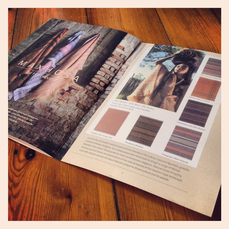 Hinterveld 2013 Catalogue.  The MaXhosa range of stunning African inspired Mohair blankets by Hinterveld