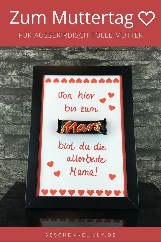 Eine schöne Geschenkidee für Muttertag. Mit diesem Mars Geschenk werden Sie de…