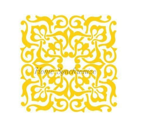 Arabesque Pattern Stencil-Decorative Pattern-Tile Stencil