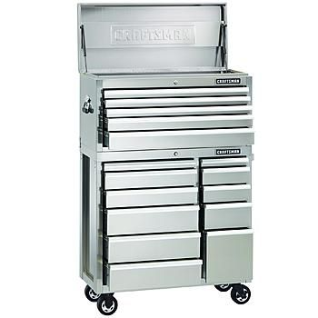 40 Inch 16 Drawer Premium Heavy Duty Stainless Steel Tool