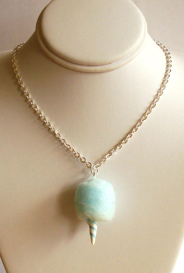 Concession Delight Cotton Candy Charm Necklace in Blue  $16