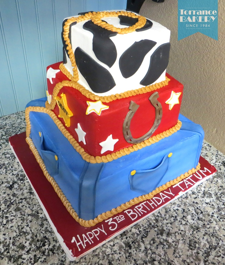 Country Western Tiered Cake