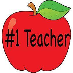 TEACHER Magnet - #1 Teacher Apple Magnet - Refrigerator Magnet - School Teacher Gift - Car bumper Magnet - Perfect Teacher Appreciation Gift - Made in the USA