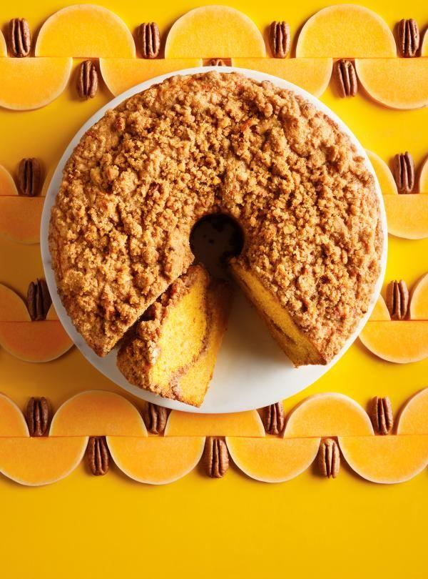 Gâteau à la courge et crumble de pacanes #cake #ricardo #foodphotography