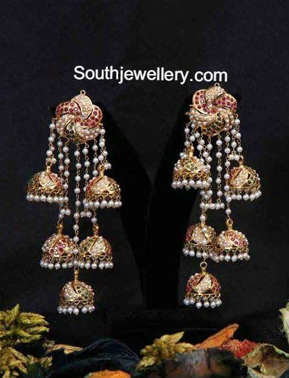 gold jhumkas - jewelry, simple, mens, tanishq, turquoise, bridal jewellery *ad #GoldJewelleryTanishq