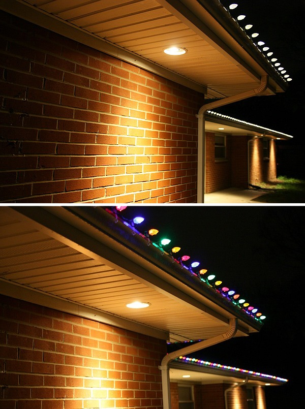 multicolor christmas lighting pathway pin lights