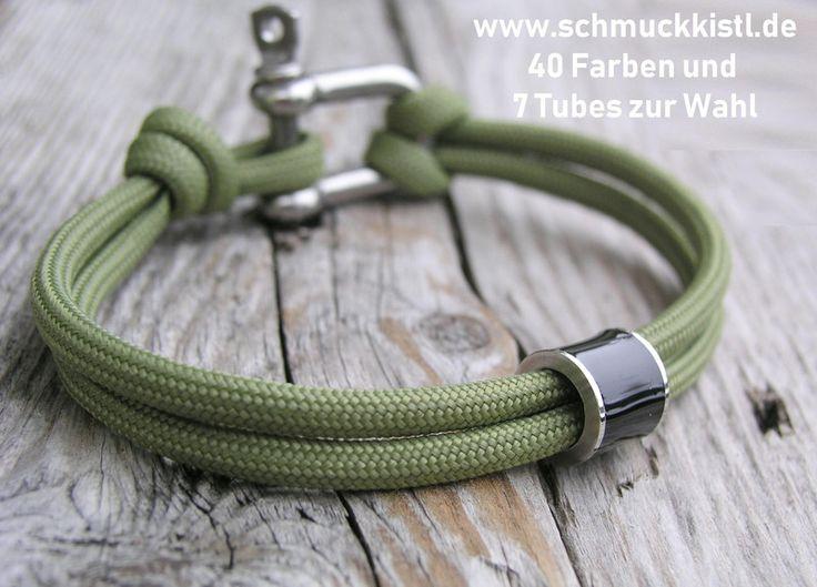 Armbänder - Armband Edelstahl Schäkel Männerarmband - ein Designerstück von Schmuckkistl bei DaWanda
