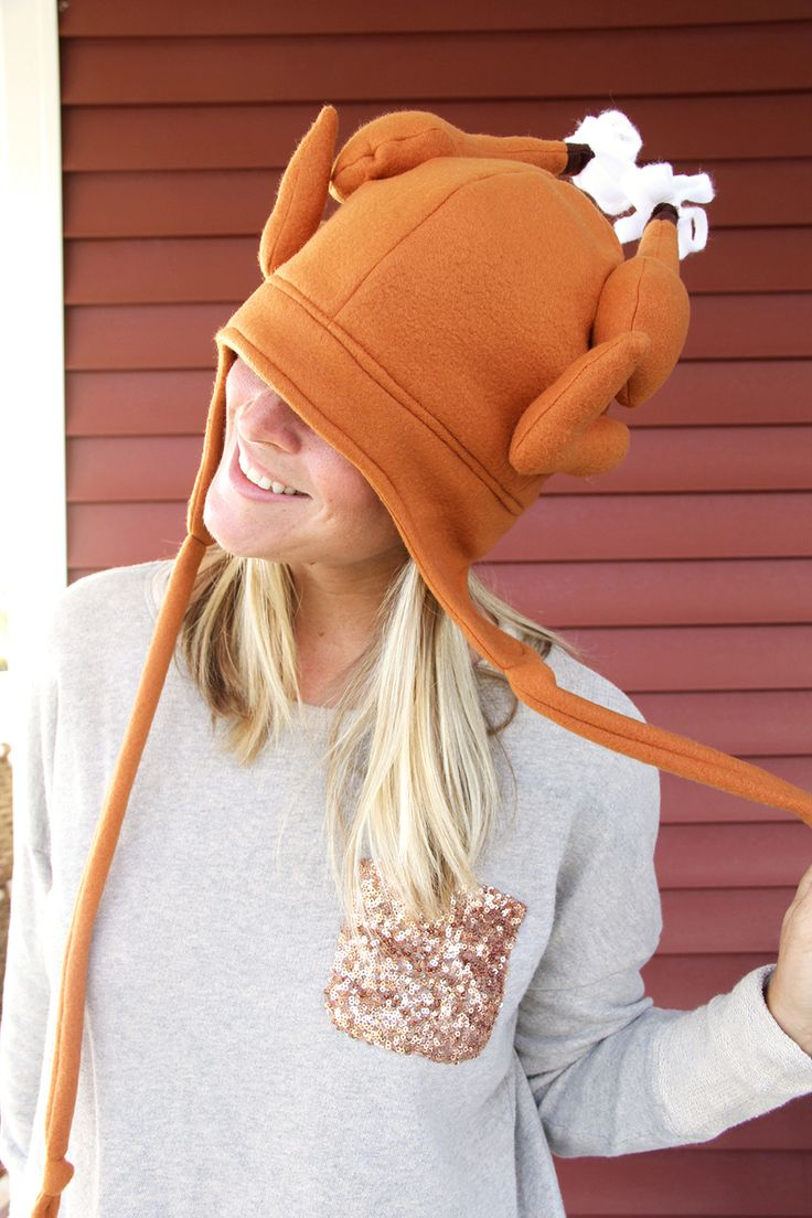 SENSE OF HUMOR REQUIRED!! lol - Free Turkey Hat sewing Pattern