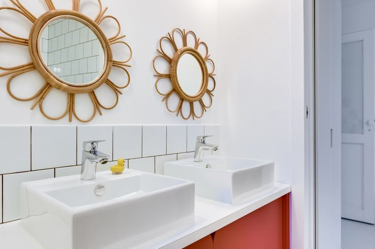 miroir rotin salle de bain