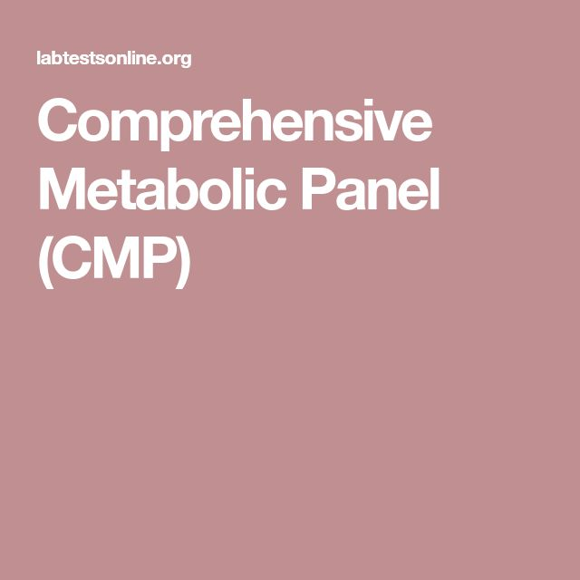 Comprehensive Metabolic Panel (CMP)