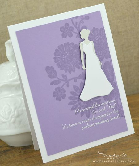 You Said Yes Card by Nichole Heady for Papertrey Ink (December 2012)