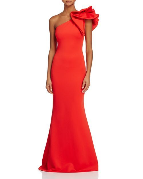 81fe6dbaccb Avery G - One-Shoulder Ruffle Gown