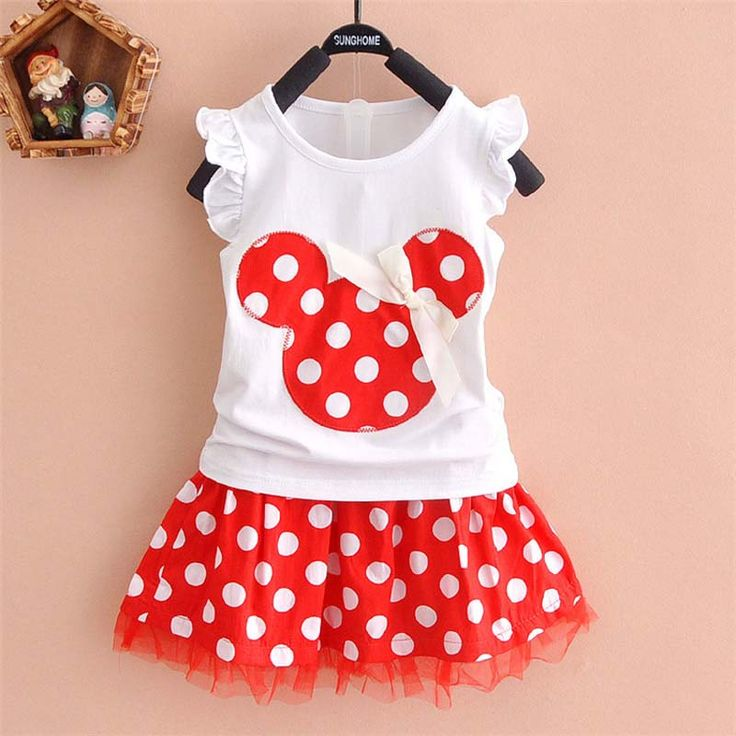 >> Click to Buy << New 2017 Arrival Brand Princess Baby Girl Cartoon Cartoon Mouse Polka Dot Dress Suit Girl's Cloth Cute Mini Children Party Dress #Affiliate