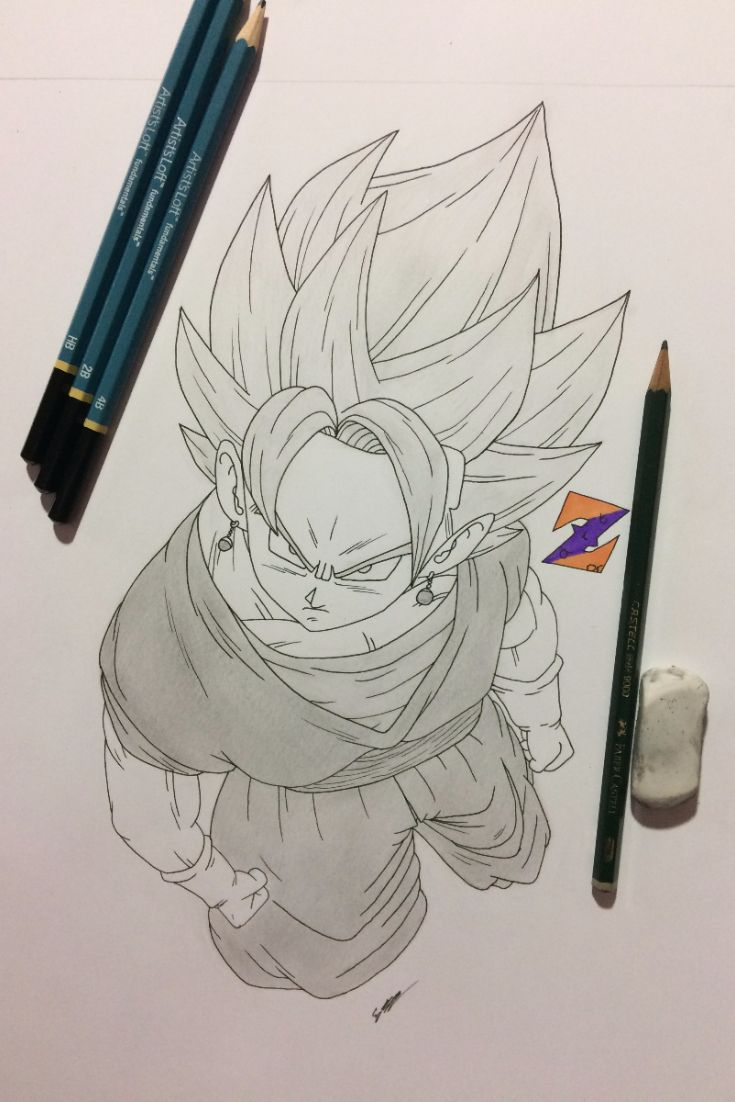 Vegito fanart from Dragon Ball Super/Z by ZorArt