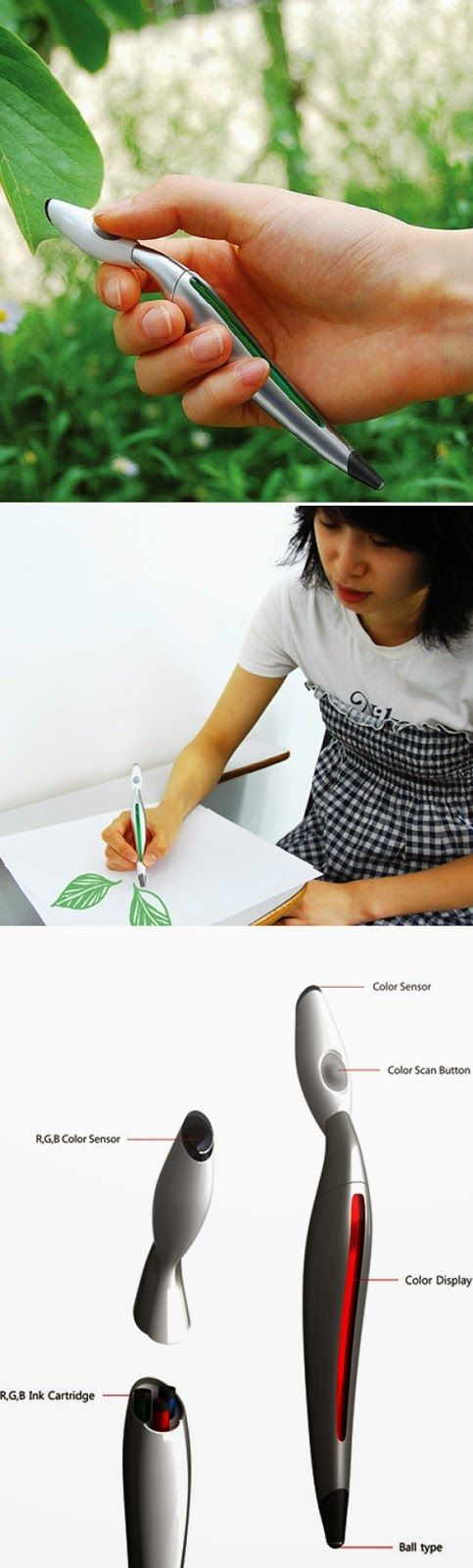 compact accurate color picker pen that picks any color around you and draws in that same color, the Scribble, is the subject of a new Kickstarter
