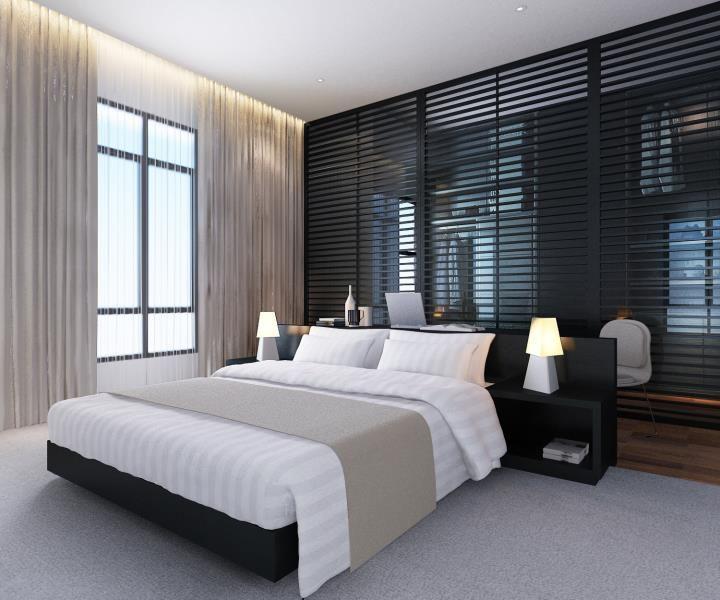 Habitaci N Y Vestidor Integrado Habitaciones Hotel Pinterest Bed Wall Black Accent Walls