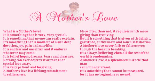 love quotes for your daughter | Getting To Know You~It`s Your Day,Your Blog *Happy Mother`s Day*