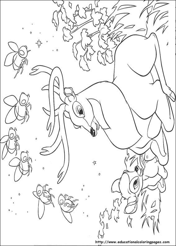 bambi 2 coloring pages educational fun kids coloring pages and preschool skills worksheets