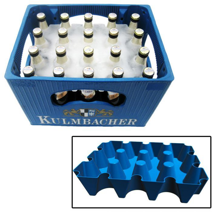 Was ist schlimmer, als warmes Bier im Sommer? Richtig: nichts... außer vielleicht ein leerer Kasten ;) Mit diesem Eisblock für den Bierkasten schaffst du Abhilfe. via: www.monsterzeug.de