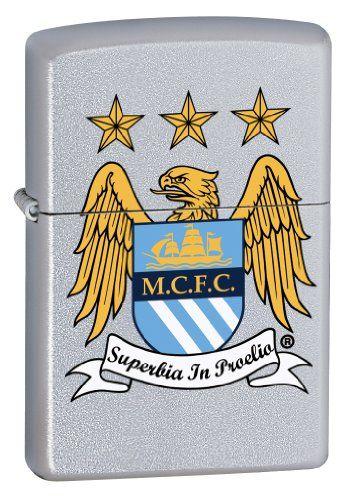 Zippo Official Manchester City FC Windproof Lighter – Satin Chrome – Zippo