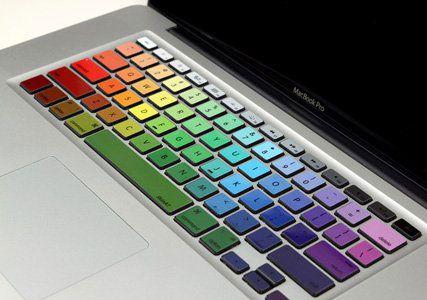 Rainbow Macbook Keyboard Stickers