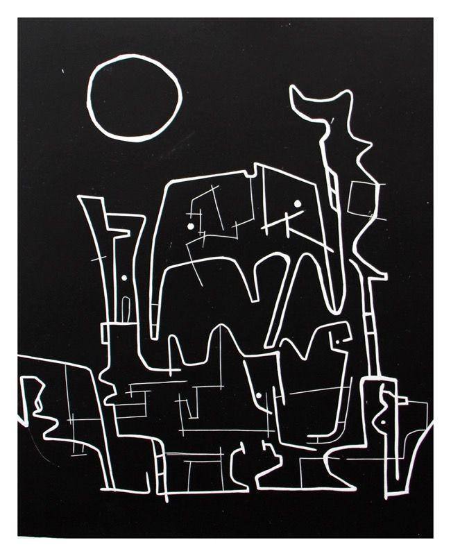 Renée Rossouw The Elephant Faces I/VI Linocut on Serkel Litho 53.5 x 41.5 cm R3 600