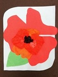 How about free form shape! Fun!O'Keeffe Poppies.... Kindergarten Loved doing this collage...