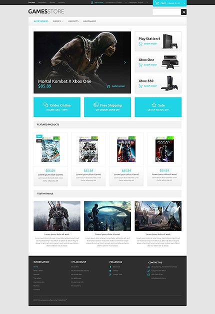Games •  Espresso Web Inspiration at your Coffee Break!  OsCommerce • Template #54843