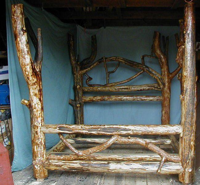 Best 25+ Log bed frame ideas on Pinterest