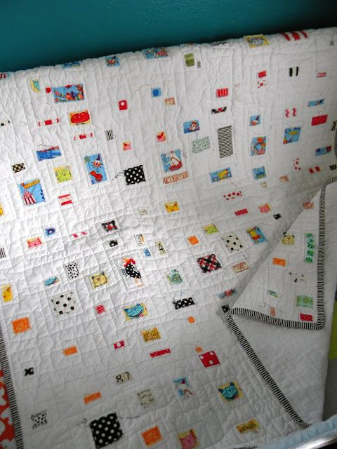 Sew Kind Of Wonderful: Baby Burp Cloths and Pam's Ticker Tape Baby Blanket