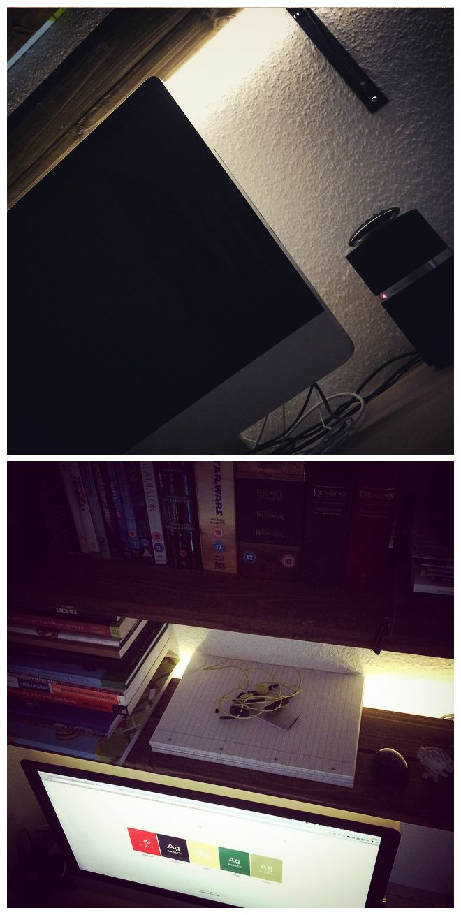 """LED backlight - However, not really suitable while working. The light is too bright and """"hard""""."""