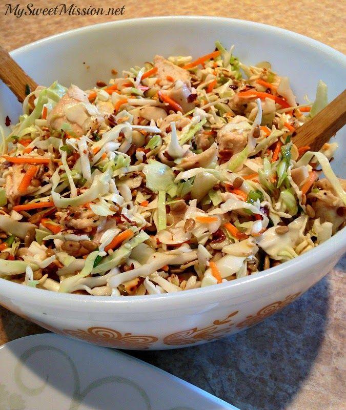 Oriental Chicken Salad by MySweetMission.net
